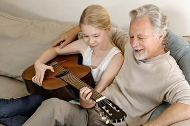 Your child can sing grandfather a song she wrote for him. Read for other ideas for honouring grandparents on Grandparent's Day (and any other day of the year too).