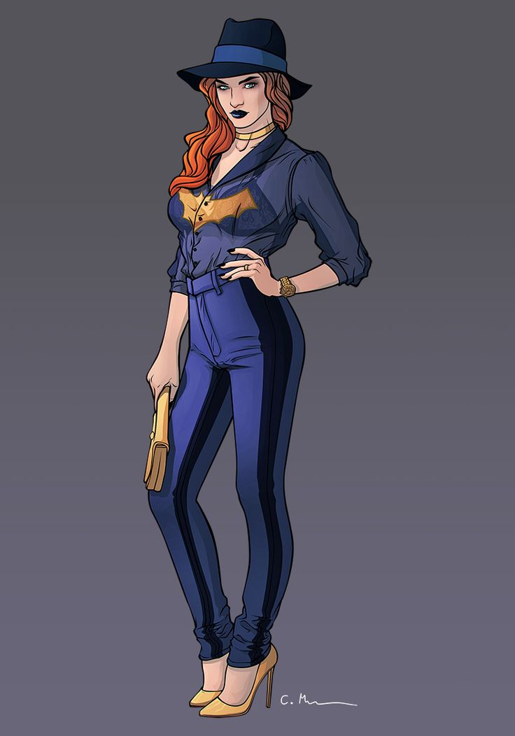 "chrispandart: "" Fashion Batgirl after the amazing work of the So talented babsdraws """