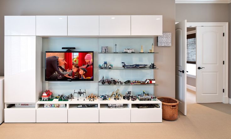 Magnificent Ikea Entertainment Center look Seattle Transitional Kids Image Ideas with beige carpet beige wall entertainment center frosted glass frosted glass backsplash game room glass