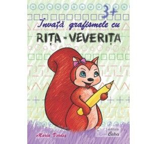 Invata grafismele cu Rita Veverita pentru 3 ani +. Descoperirea elementelor grafice poate fi mai usoara cu ajutorul Veveritei Rita. Acest caiet propune exercitii simple, special create pentru varsta de 3-4 ani.