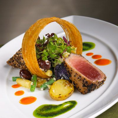 Fine dining entrees cowboy refined creative seafood for Fine dining gourmet recipes