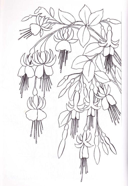 patron bordado de flores