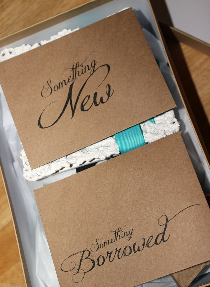 Long time no post: Something old, something new, something borrowed,something blue bridal shower gift