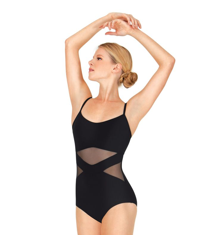 Adult Chevron Mesh Camisole Leotard