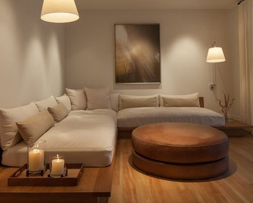 Twin beds sectional sofa. Perfect DIY couch to use the latex mattresses for