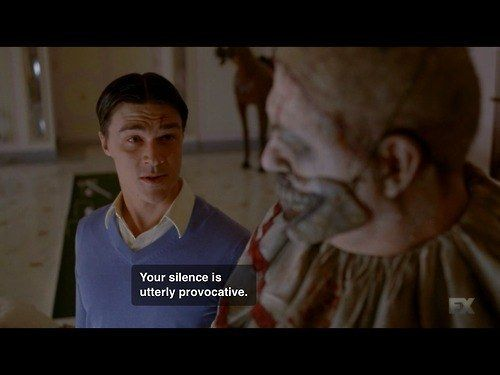 "In fact, his choice of wording is usually enticing. | Community Post: 14 Reasons You Have A Crush On Dandy From ""AHS: Freak Show"""