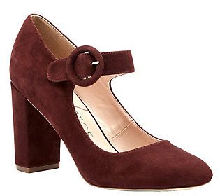 Sole Society Suede Mary Jane Pumps - Selma
