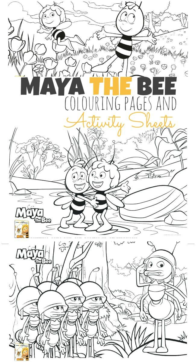77 best maya the bee images on pinterest bees the bee and kids coloring. Black Bedroom Furniture Sets. Home Design Ideas