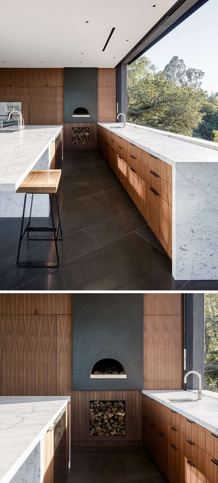 Kitchen Design Idea - Include A Built-In Wood Fire Oven In Your Kitchen | CONTEMPORIST