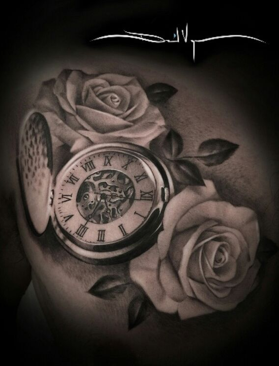womens back tattoos pocket watch - Google Search