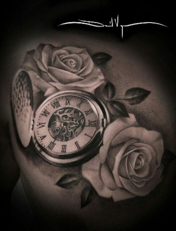 womens back tattoos pocket watch google search tattoo