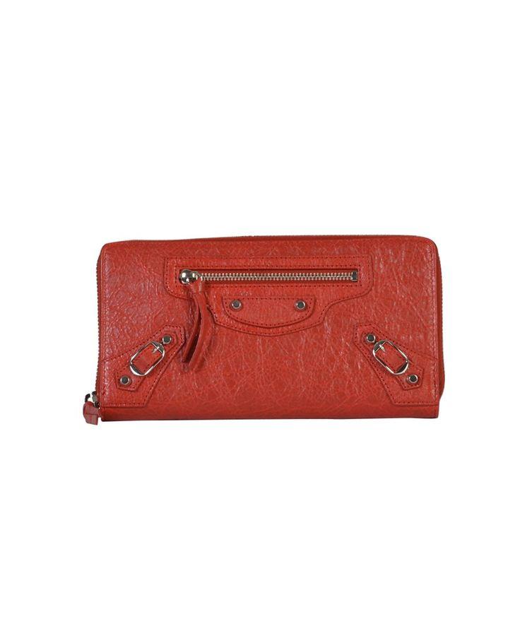 BALENCIAGA Balenciaga Women'S  Red Leather Wallet'. #balenciaga #wallets