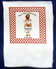 "*Croatian Cooking ~ Kitchen Towel ~ ""Every Time a Child is Born, So is a Baba"" (Also available as ""Baka"") - HEART OF CROATIA GIFTS"