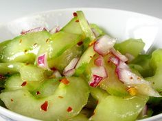 Cucumber 'Kimchee' salad.. so easy and so different from any other salad at your next potluck