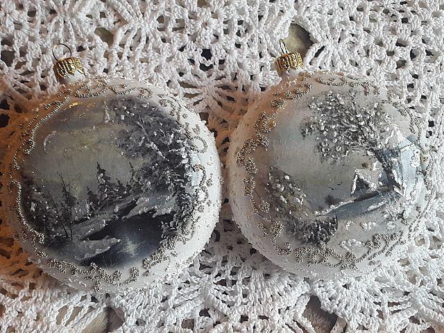 Christmas Balls, decoupage JoannaY.