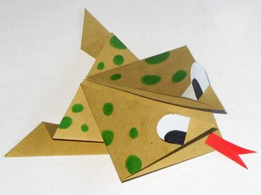 Pliage facile pour les enfants : grenouille sauteuse en origami