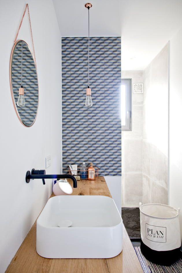 Petite salle d\'eau, maxi idées | Diy bathroom remodel, Small ...