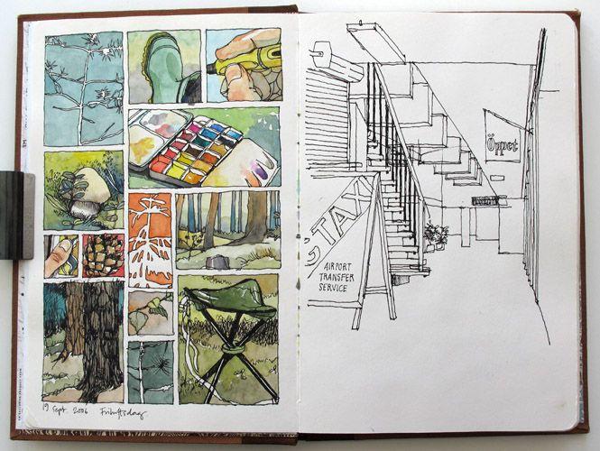 Nina Johanssen sketches