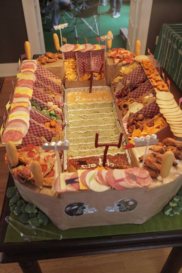 Learn to Make Your Own Super Bowl Snack Stadium