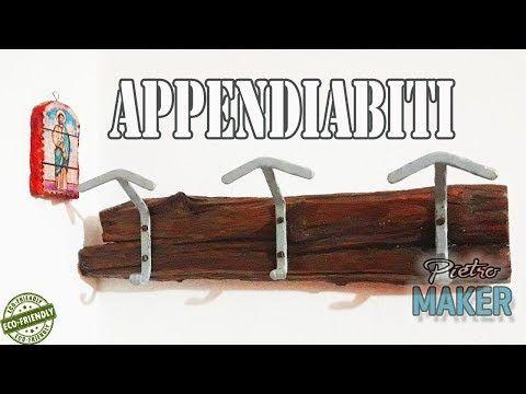 🔴 FAI DA TE - Un appendiabiti recuperando una vecchia asse , i ganci fatti in ferro a mano - YouTube