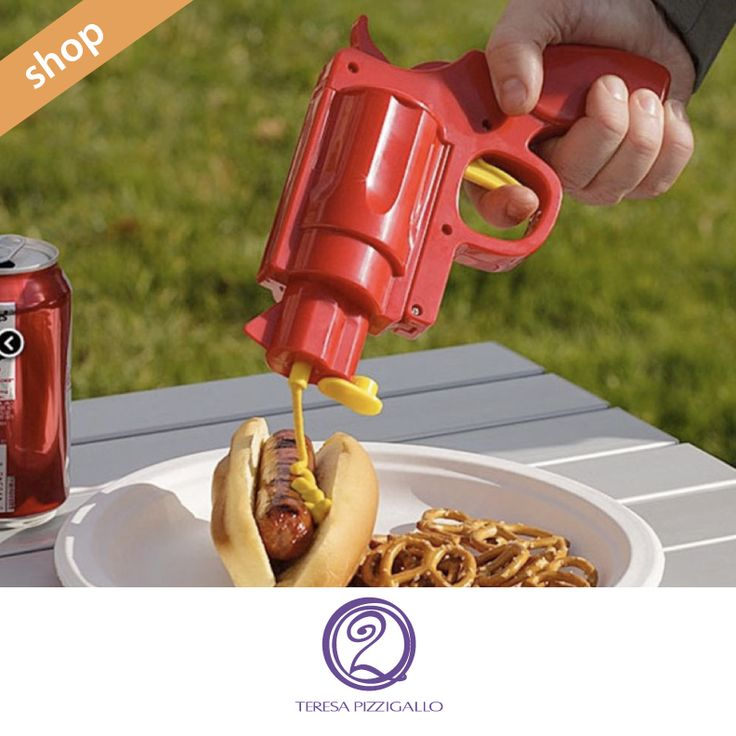 Molto più che design. Conosci in modo originale piatti e pietanze.  CLICCA SUL LINK >>> http://www.teresapizzigalloshop.it/home/83-pistola-spara-ketchup.html?search_query=pistola&results=1