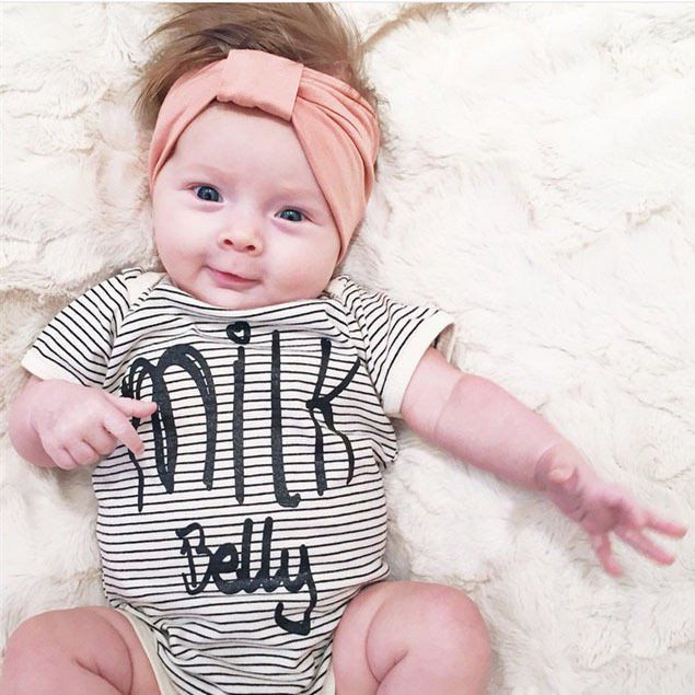 Milk Belly Stripes Onesie, Newborn baby coming home outfit, baby shower gift ideas, going home from hospital outfit, take home outfit, baby girl baby boy clothing sets