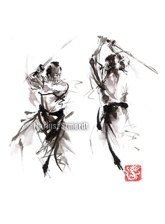 Samurai alma de Bushido Ronin Samurai Warrior lucha de la
