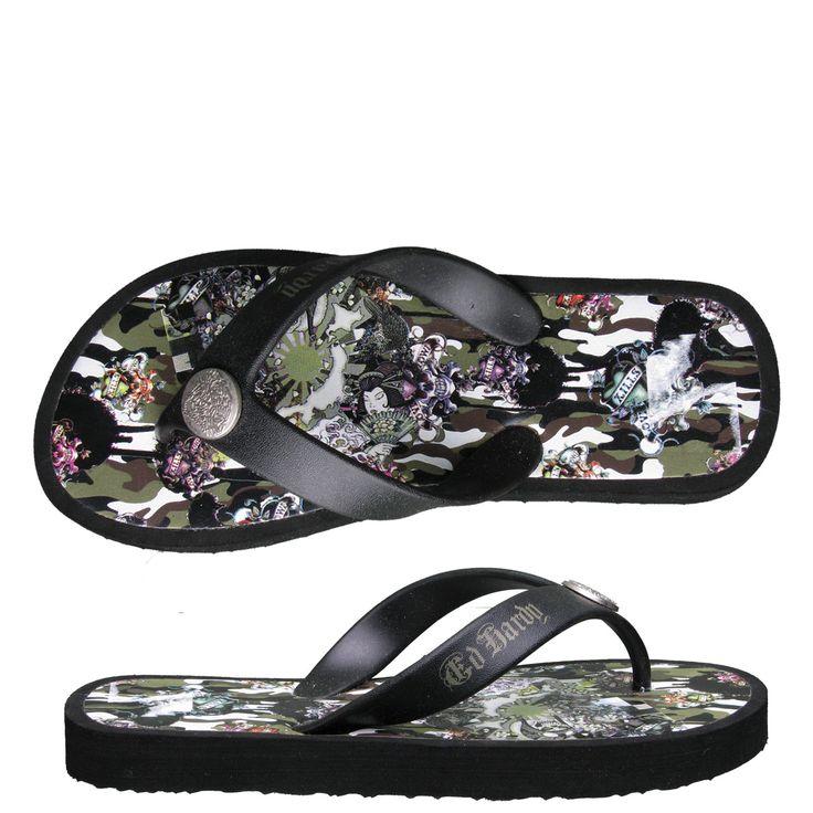 Ed Hardy Flip Flop Kids Sandal Okinawa - Camo - Yvonne's #shoes