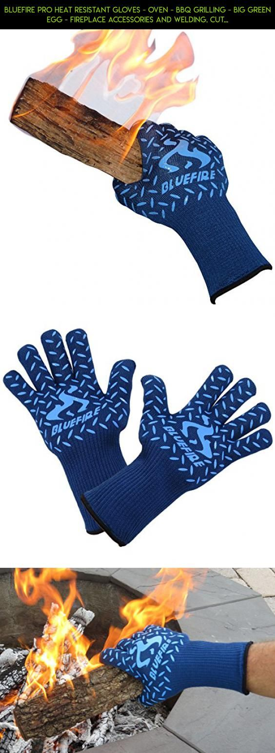BlueFire Pro Heat Resistant Gloves - Oven - BBQ Grilling - Big Green Egg - Fireplace Accessories and Welding. Cut Resistant, Forearm Protection -100% Kevlar Certified 932°F Heat Resistance #products #camera #pot #kit #shopping #big #racing #tech #parts #outdoor #gadgets #fpv #cooking #plans #technology #drone