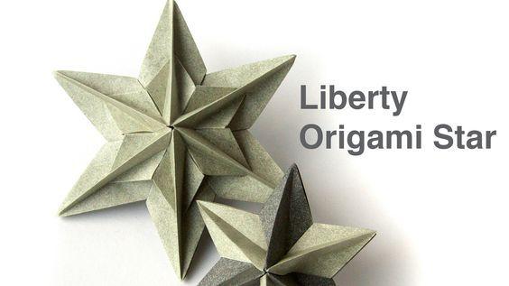 Tutorial How To Make Liberty Modular Origami Star Spectacular 3d