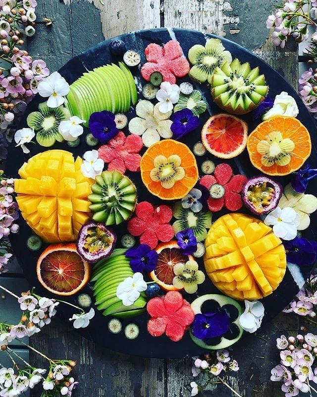 How pretty is this fruit salad?