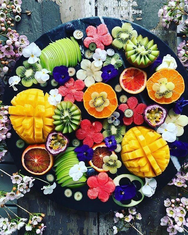 Fruit salad presentation.                                                                                                                                                                                 More
