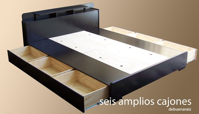 Base para cama minimalista 100 madera muebles bufets - Bases de camas de madera ...
