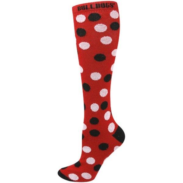 Georgia Bulldogs Ladies Red Polka Dot Knee Socks...for rain boots