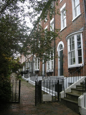 Georgian town houses in Tunbridge Wells, Kent, UK