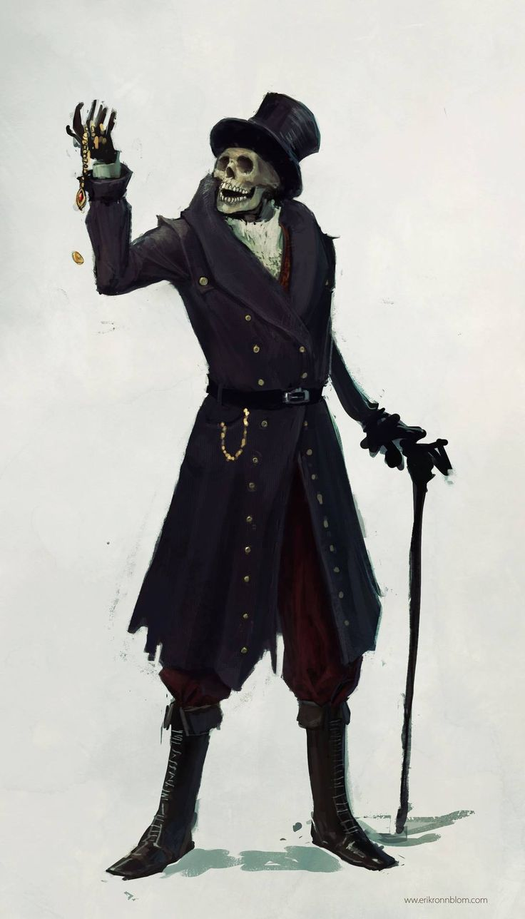 Baron Samedi, is that you?  The Art of Erik Rönnblom Website: http://www.erikronnblom.com/