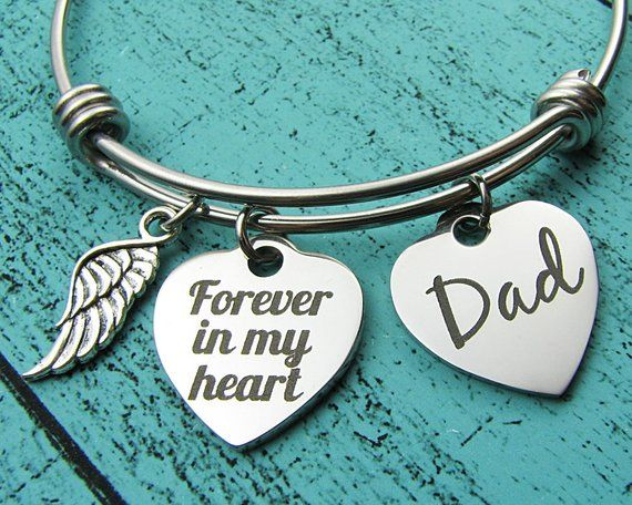 Dad Memorial Bracelet Dad Dad Memorial Gift Father Memorial Bracelet Father Remembrance In Memory of My Dad Bracelet Dad Memorial Jewelry