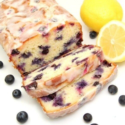 Blueberry Lemon Bread with Lemon Glaze