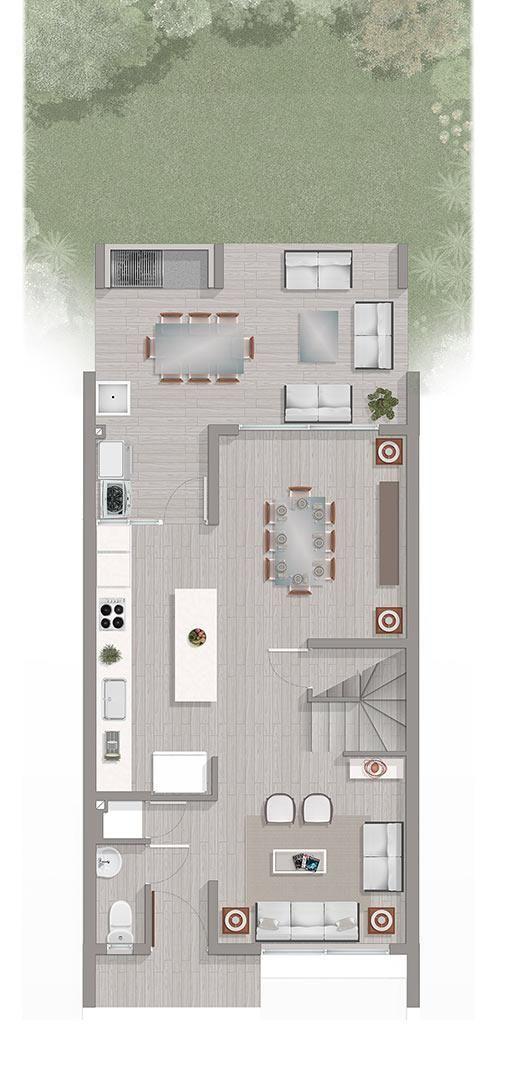 Exclusivo y moderno condominio en tipología townhouse.