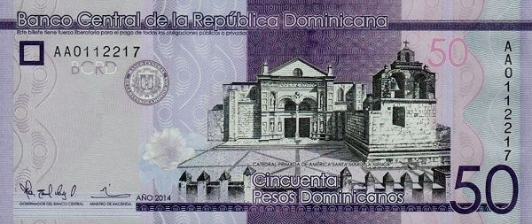 Matawang Republik Dominika (50 Pesos Dominicanos)