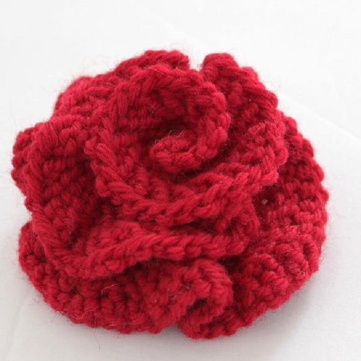 Knitting Flowers Patterns Free : Best ideas about knit flowers on pinterest crochet