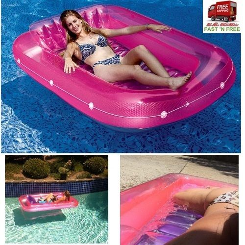 71 Inch Air Bathtub Floating Pool Lounge Cooler Ride Comfort Sturdy Vinyl Toy Ad #Swimline