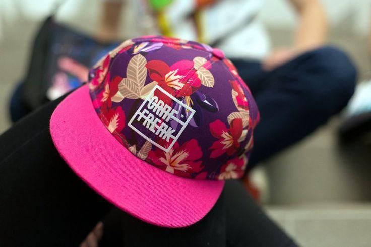 Snapback GRAFFREAK  #cap #snapback #hiphop #streetwear #pink #forher #flowers #baseball #czapka #daszek #różowa #graffreak