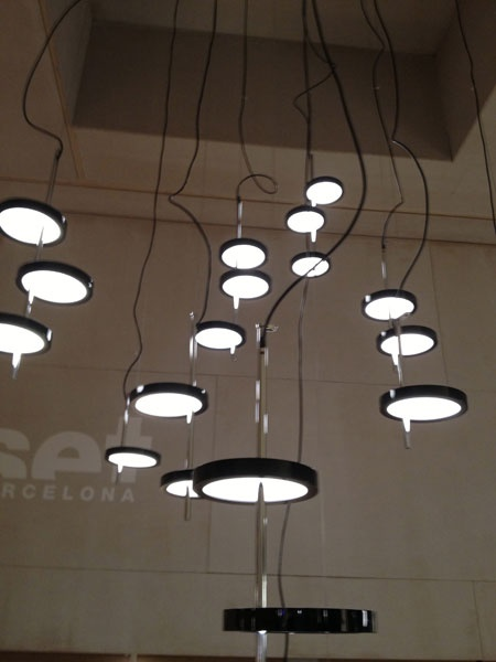 futuristic lighting. nenufar pendant lights by joan gaspar for marset futuristic lighting