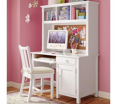 Kids' Desks & Chairs: Kids White Classic Wooden Walden Desk