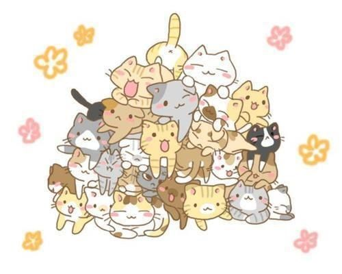 Cute kawaii cats