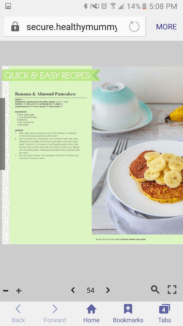 Banana almobd pancakes