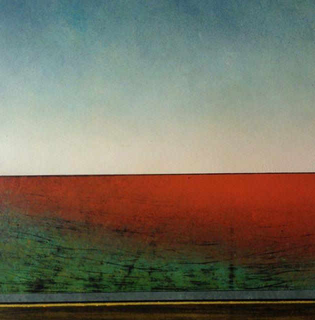 Richard Adams - Glow II - mixed media on canvas