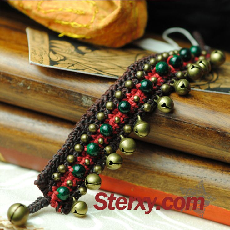 Adorn your wrist with this wide ethnic bracelet! Embellished with vintage beads stringed together, it is accented with tiny brass bells. Check out the following link for more choices. Shop now!  http://www.sterxy.com/category/Fashion-Jewelry/160.html