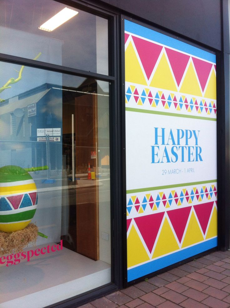 Window display for Easter!